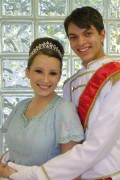 Ashley Harrell as CINDERELLA and Nick Perry as The Prince, CHRISTOPHER. Photographer: Sharon Propst, RAC Publicity.