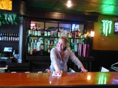 Amy at the bar