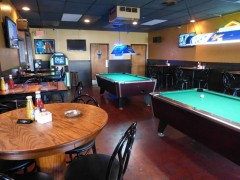 Pool and darts room